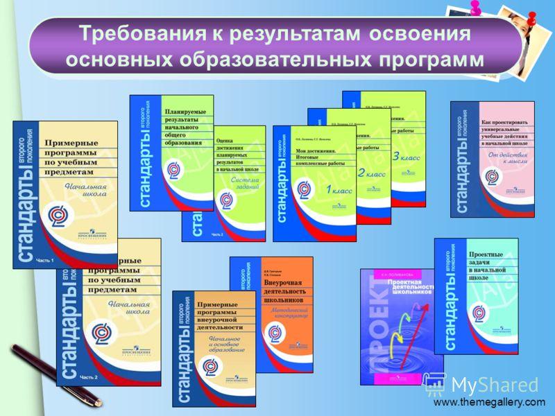 www.themegallery.com Требования к результатам освоения основных образовательных программ