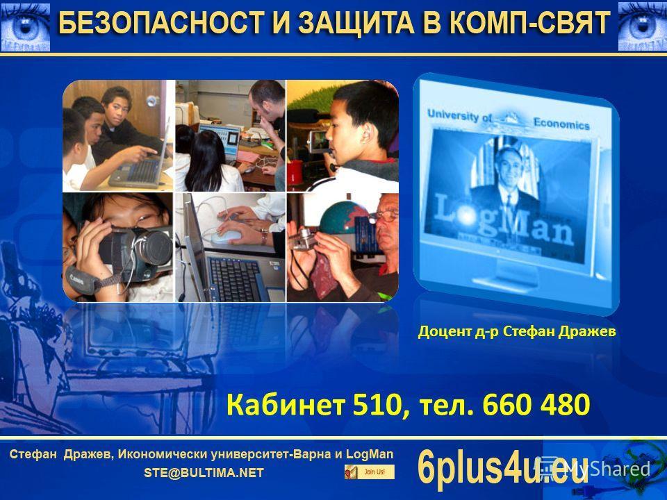 Водещ преподавател Доцент д-р Стефан Дражев Кабинет 510, тел. 660 480