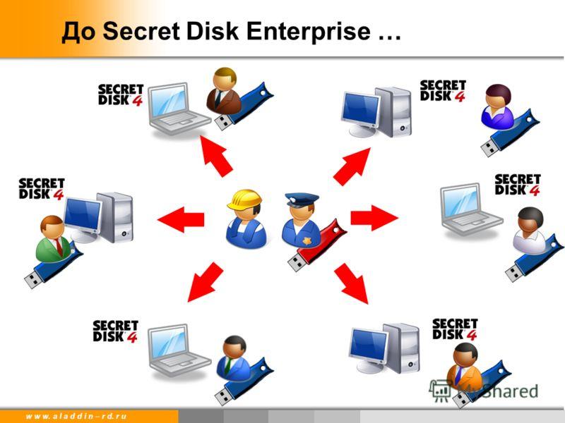 w w w. a l a d d i n – r d. r u До Secret Disk Enterprise …