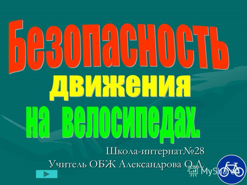 Школа-интернат28 Учитель ОБЖ Александрова О.Д.