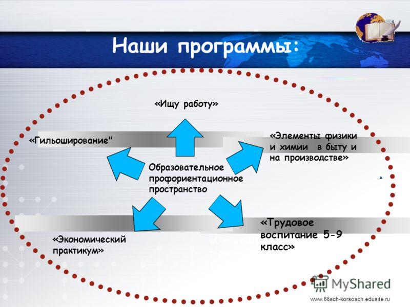 Наши программы: «Элементы физики и химии в быту и на производстве» «Санкт-Петербург – город-музей, институт, мастерская» «Гильоширование