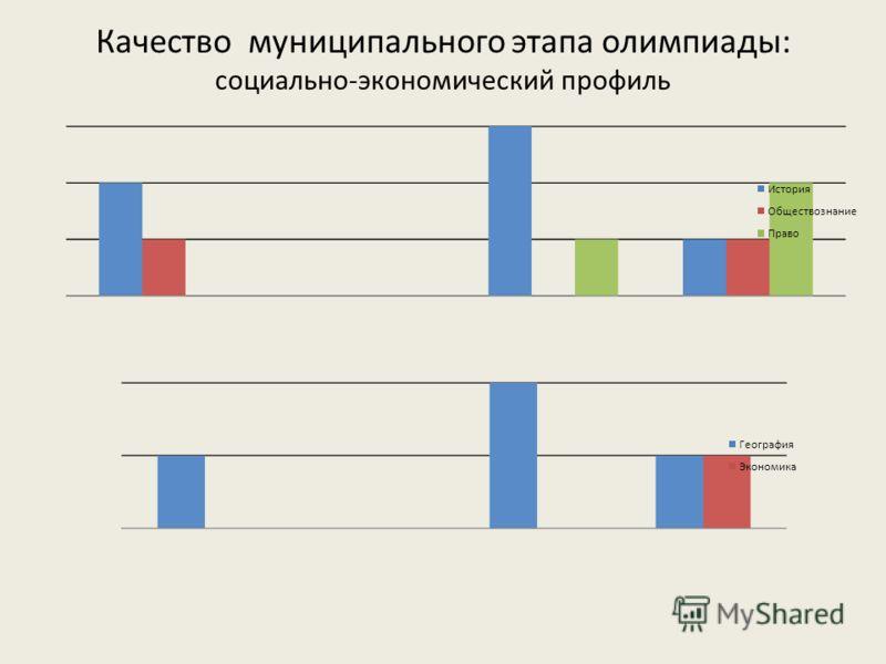 Качество муниципального этапа олимпиады: социально-экономический профиль