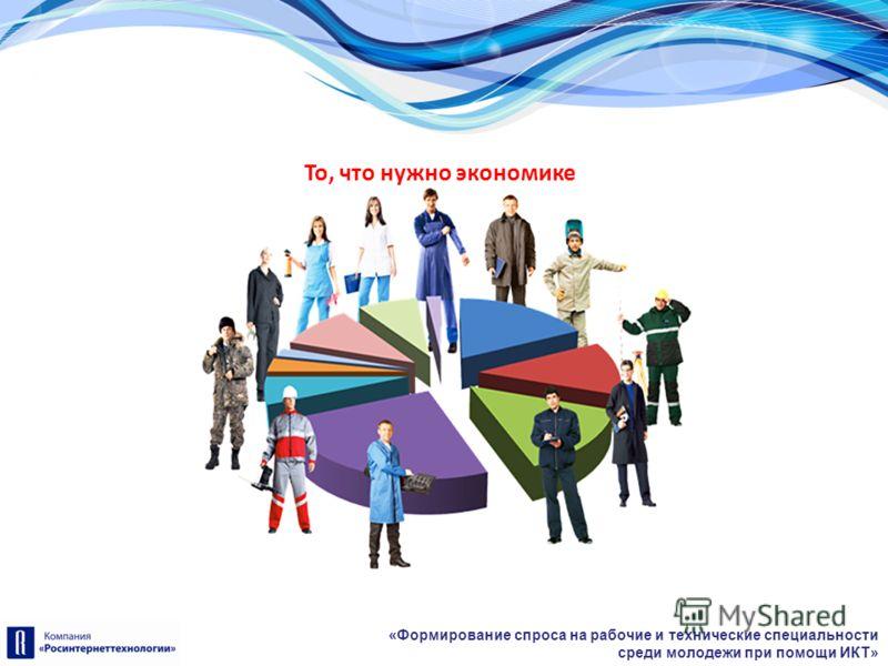 «Формирование спроса на рабочие и технические специальности среди молодежи при помощи ИКТ» То, что нужно экономике