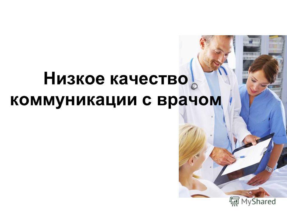 Низкое качество коммуникации с врачом
