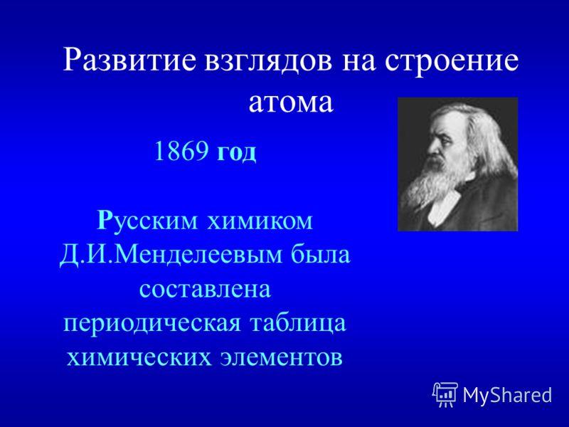Развитие взглядов на строение атома 1827 год Роберт Броун открыл броуновское движение.