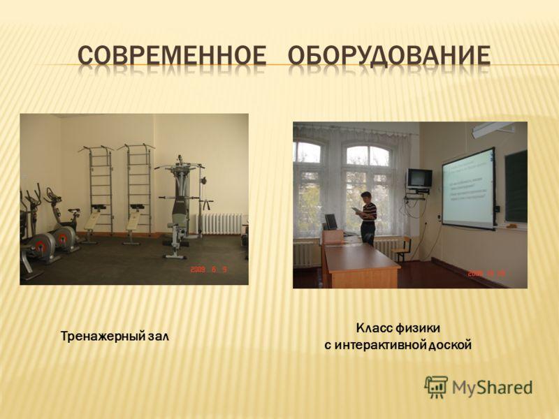 Тренажерный зал Класс физики с интерактивной доской