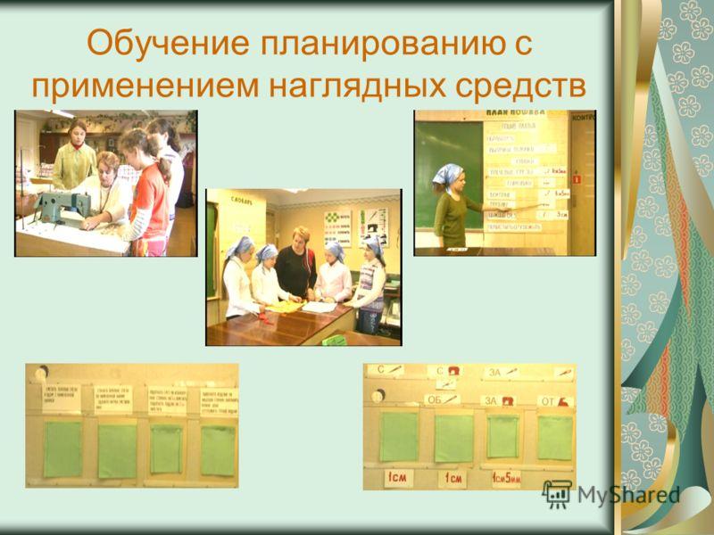 Обучение планированию с применением наглядных средств