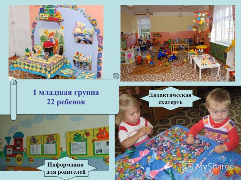 1 младшая группа 22 ребенок Информация для родителей Дидактическая скатерть