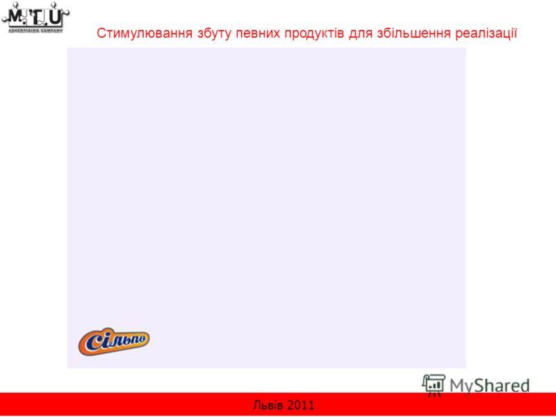Львів 2011 Стимулювання збуту певних продуктів для збільшення реалізації