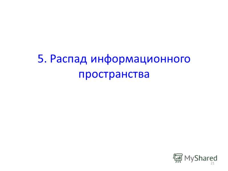 5. Распад информационного пространства 21