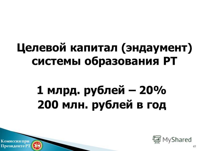 65 Комиссия при Президенте РТ