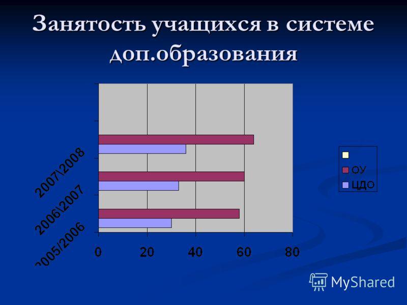 Занятость учащихся в системе доп.образования