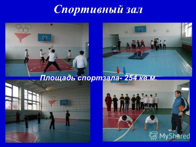 Спортивный зал Площадь спортзала- 254 кв.м.