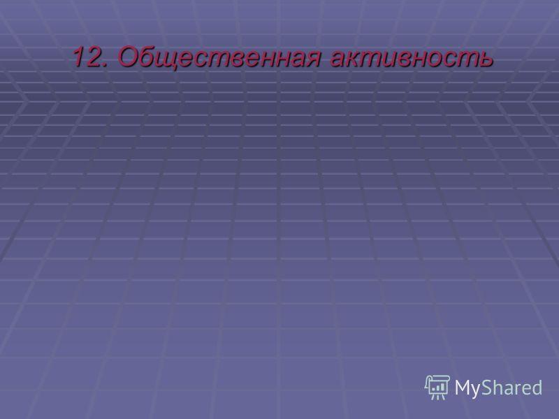 12. Общественная активность