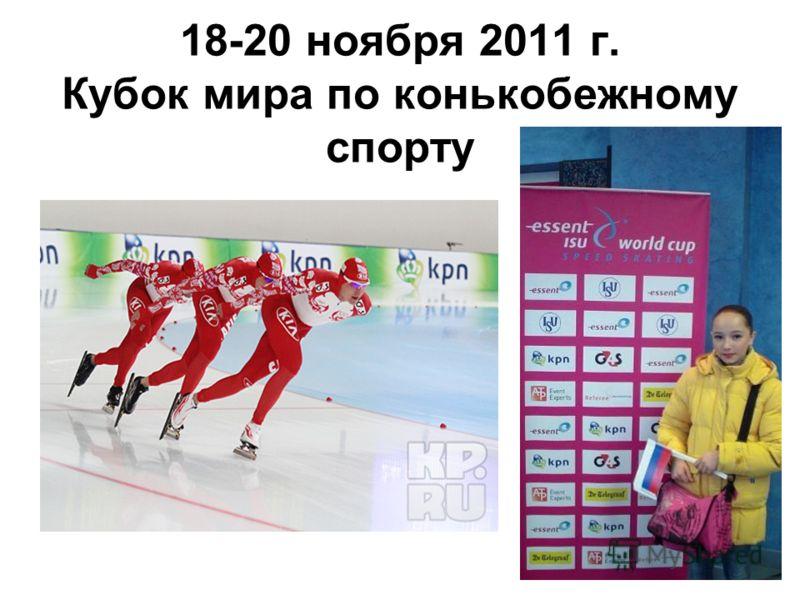 18-20 ноября 2011 г. Кубок мира по конькобежному спорту