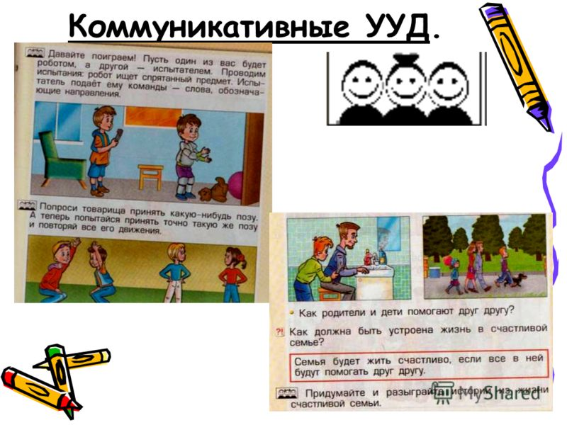 Коммуникативные УУД.