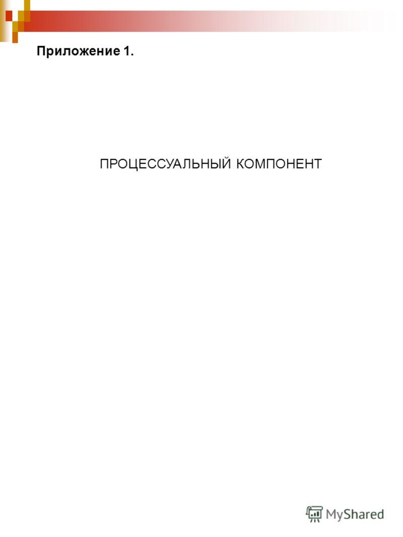 Приложение 1. ПРОЦЕССУАЛЬНЫЙ КОМПОНЕНТ