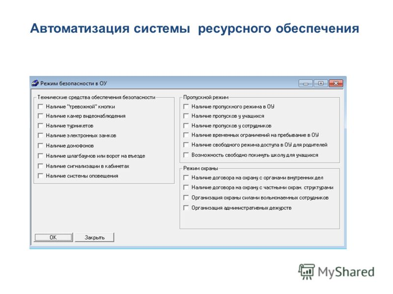 Автоматизация системы ресурсного обеспечения