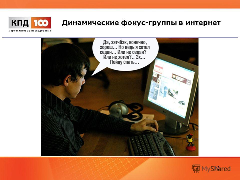 13 Динамические фокус-группы в интернет