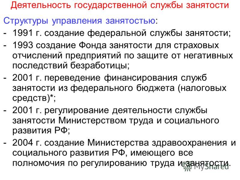 Государственные службы занятости и частные объявления доска объявлений дзержинский московская область