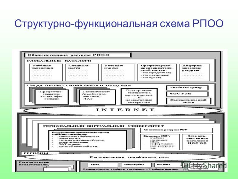 Структурно-функциональная схема РПОО