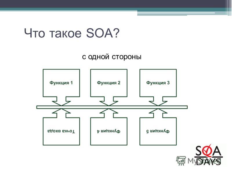 c одной стороны Что такое SOA?