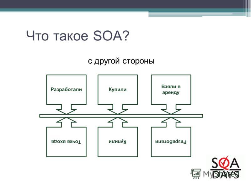 c другой стороны Что такое SOA?
