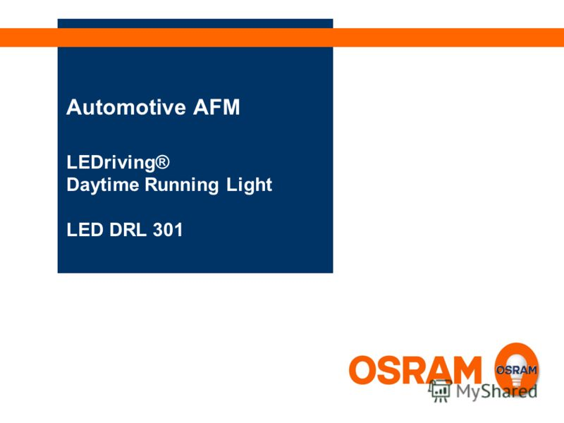 Automotive AFM LEDriving® Daytime Running Light LED DRL 301