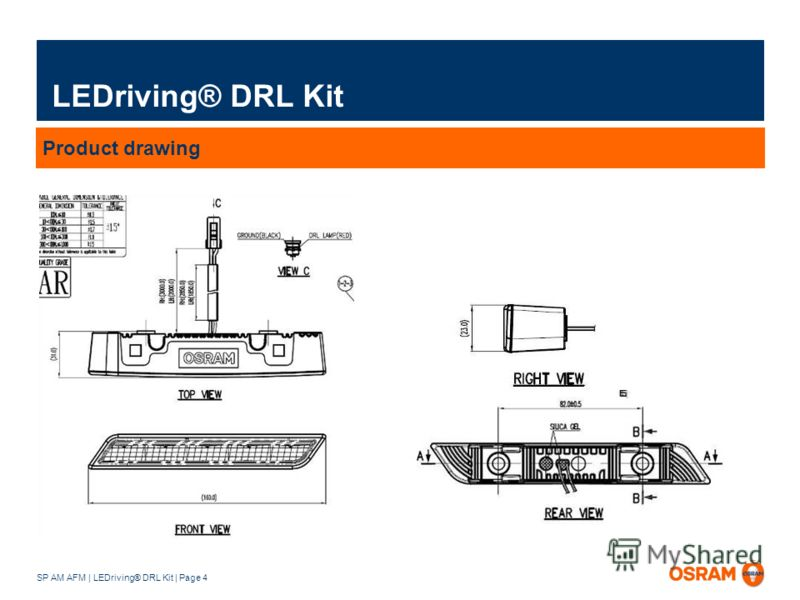 SP AM AFM | LEDriving® DRL Kit | Page 4 LEDriving® DRL Kit Product drawing