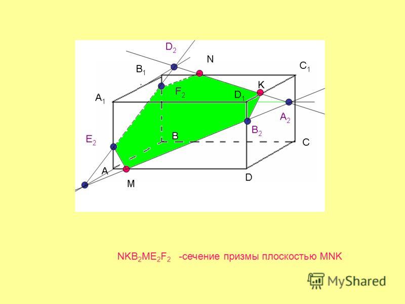 NKB 2 ME 2 F 2 -сечение призмы плоскостью MNK