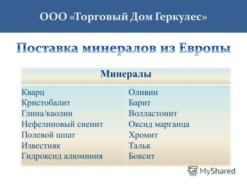 ООО «Торговый Дом Геркулес»