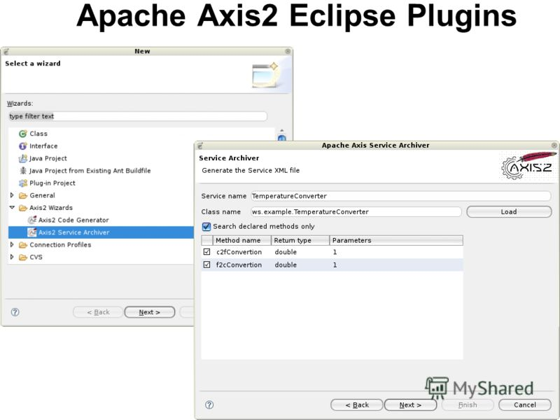 Apache Axis2 Eclipse Plugins