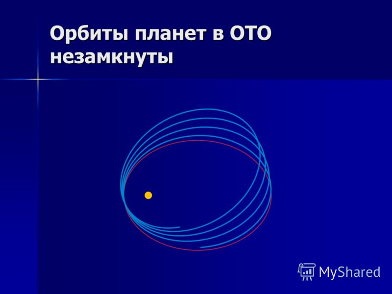 Орбиты планет в ОТО незамкнуты