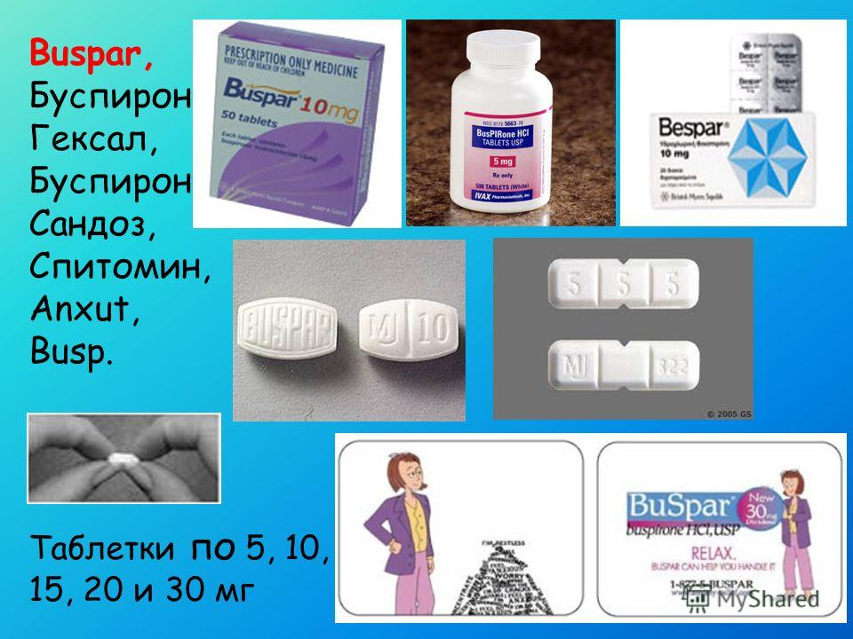 Buspar Buspirone Doctor Medication Patient