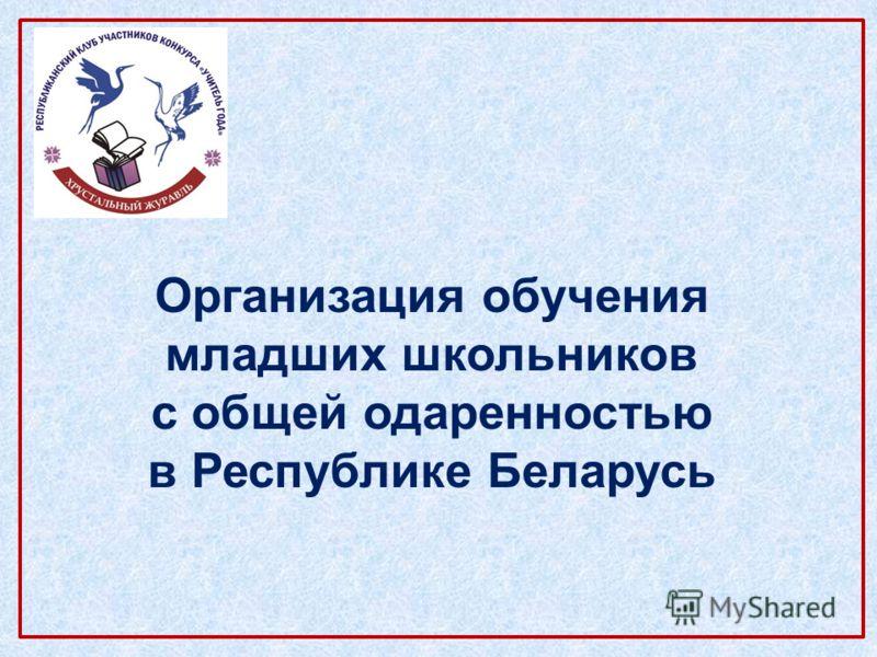 Организация обучения младших школьников с общей одаренностью в Республике Беларусь