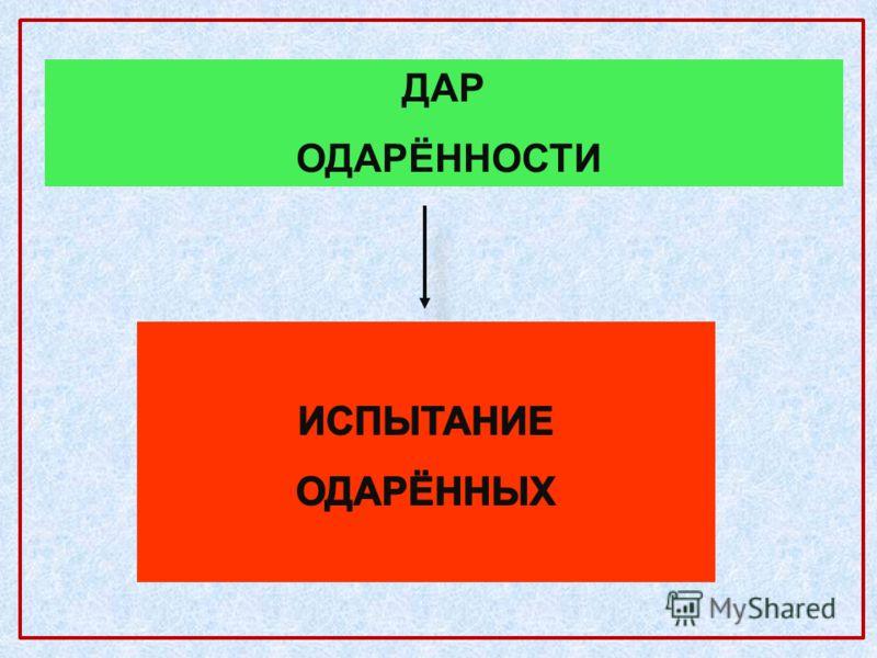 ДАР ОДАРЁННОСТИ
