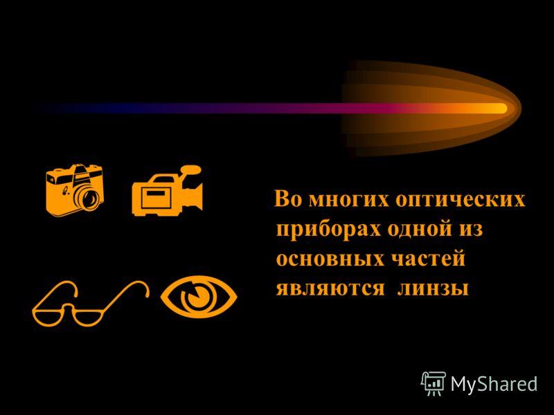 Во многих оптических приборах одной из основных частей являются линзы