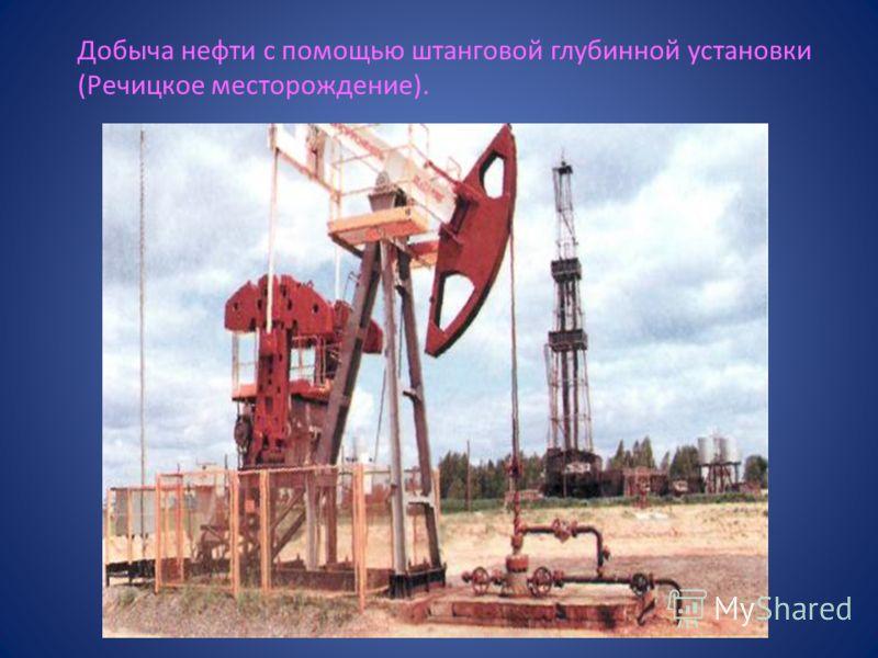 Добыча нефти с помощью штанговой глубинной установки (Речицкое месторождение).