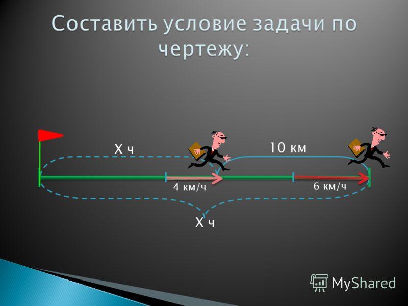 A B 4 км/чХ км/ч 3 ч 30 км