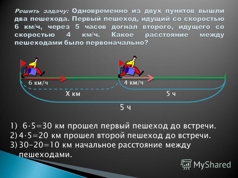 4 км/ч 6 км/ч 10 км Х ч