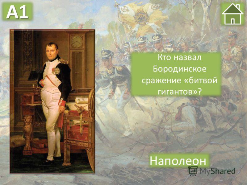 Кто назвал Бородинское сражение «битвой гигантов»? Наполеон А1А1