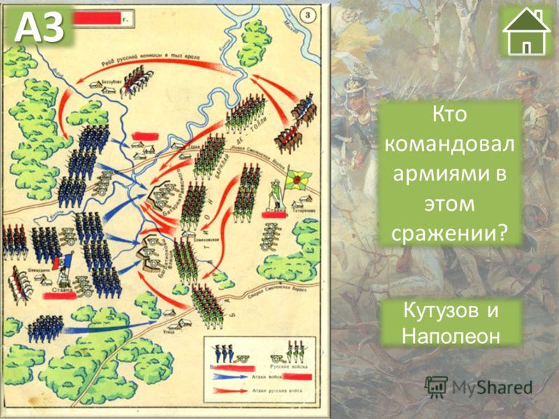 Кутузов и Наполеон Кто командовал армиями в этом сражении? А3А3