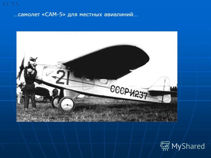 …самолет «САМ-5» для местных авиалиний…