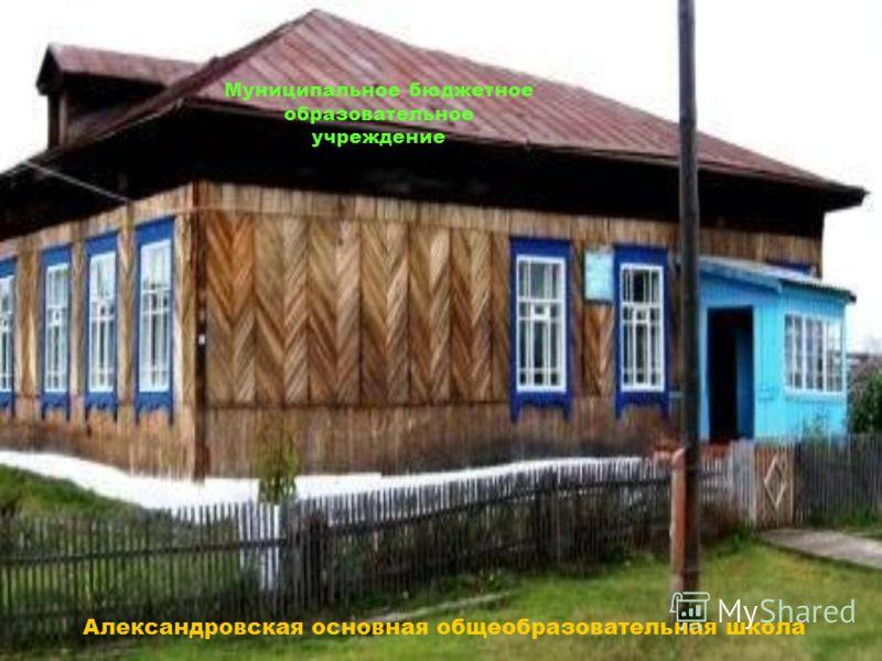 Муниципальное бюджетное образовательное учреждение Александровская основная общеобразовательная школа