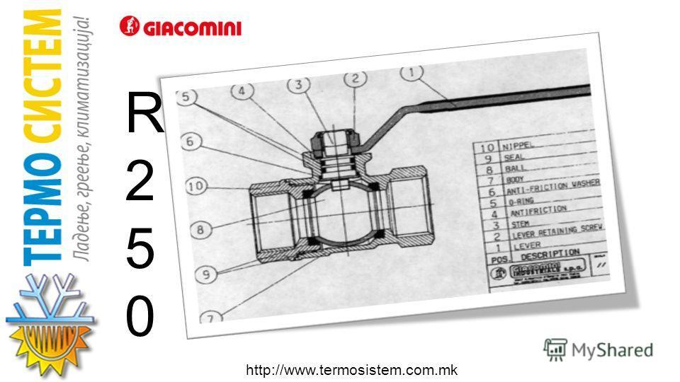 http://www.termosistem.com.mk Лежиштето и пресекот може да се видат од сликата: A) Го намалува механичкото триење B) Го задржува лежиштето подмачкано. C) Го продолжува животниот век на вентилот. D) Работи на високи температури (185°C) и висок притисо