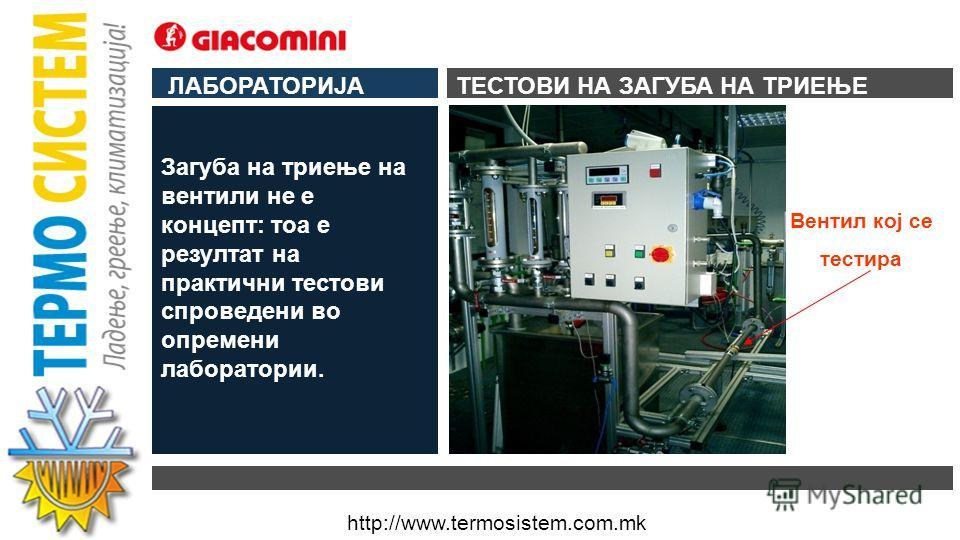 http://www.termosistem.com.mk ЛАБОРАТОРИЈА ДОКАЗПРОИЗВОД