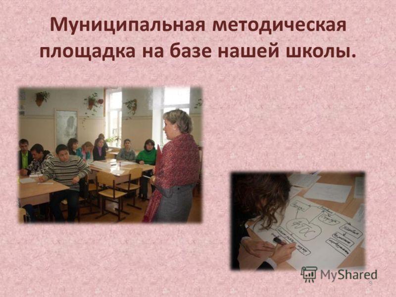 Муниципальная методическая площадка на базе нашей школы. 9