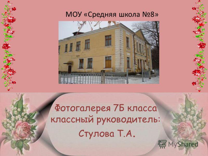 Фотогалерея 7Б класса классный руководитель: Стулова Т.А. МОУ «Средняя школа 8»