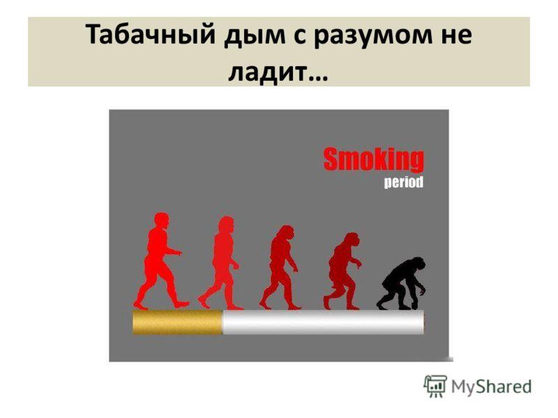 Табачный дым с разумом не ладит…