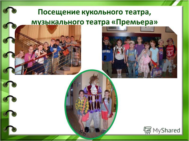 Посещение кукольного театра, музыкального театра «Премьера»